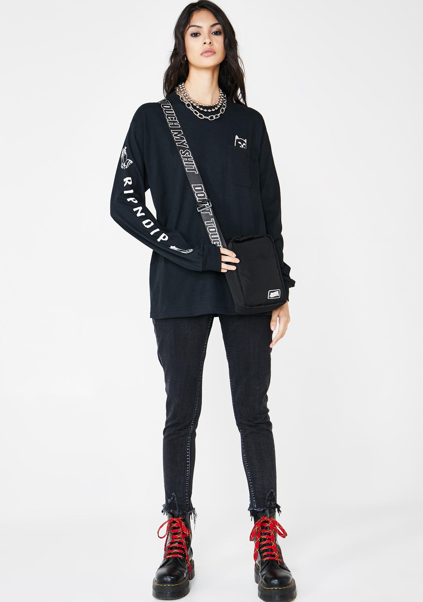 RIPNDIP Blackout Lord Jermal Long Sleeve Tee