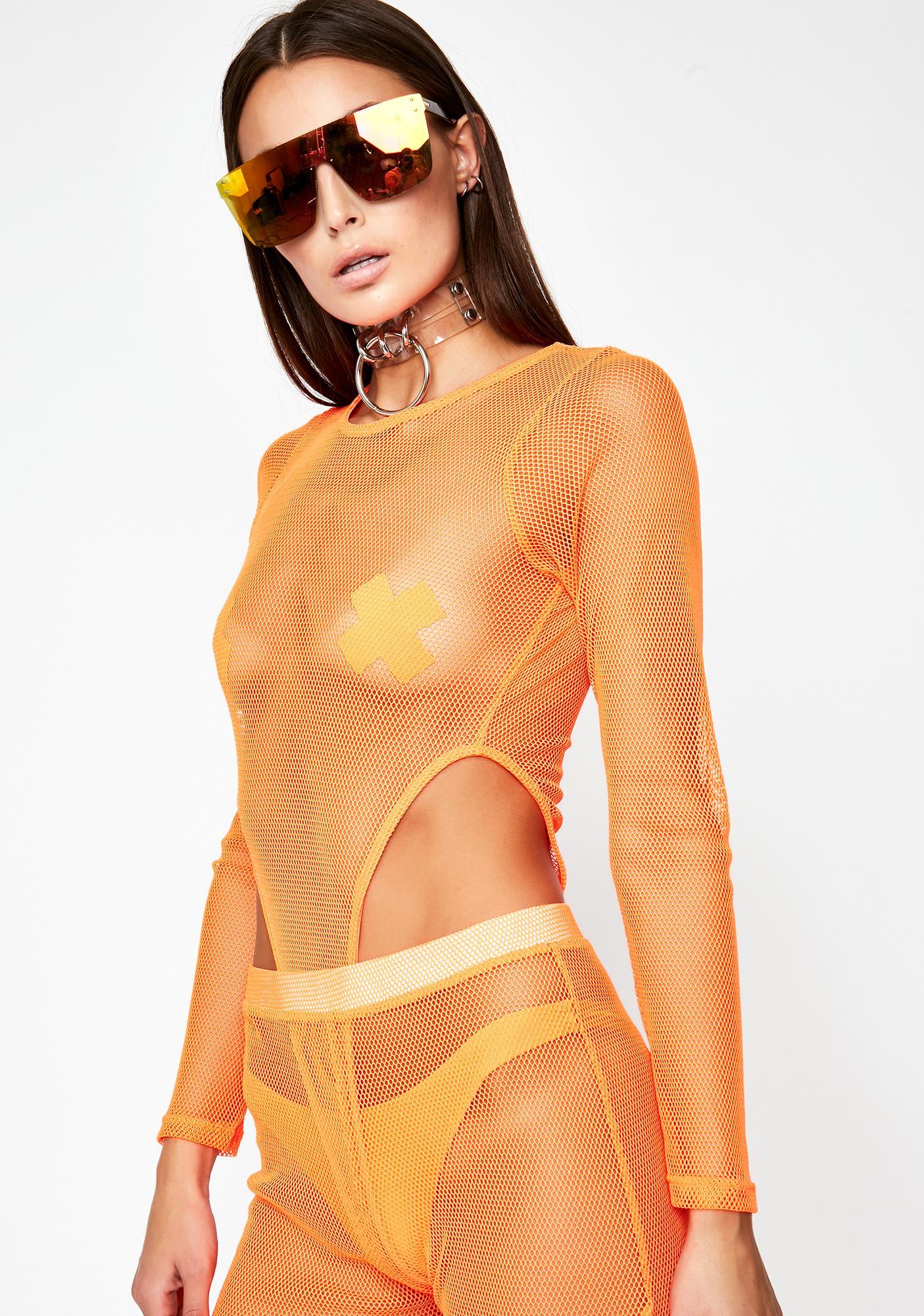 Juicy Infinite Illusion Mesh Bodysuit
