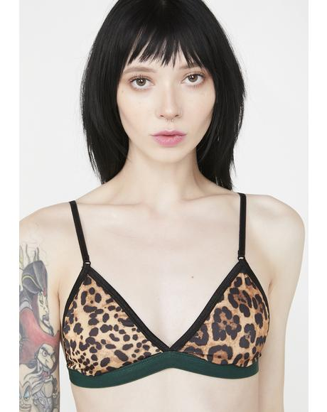 Leopard Black Tapes Bra