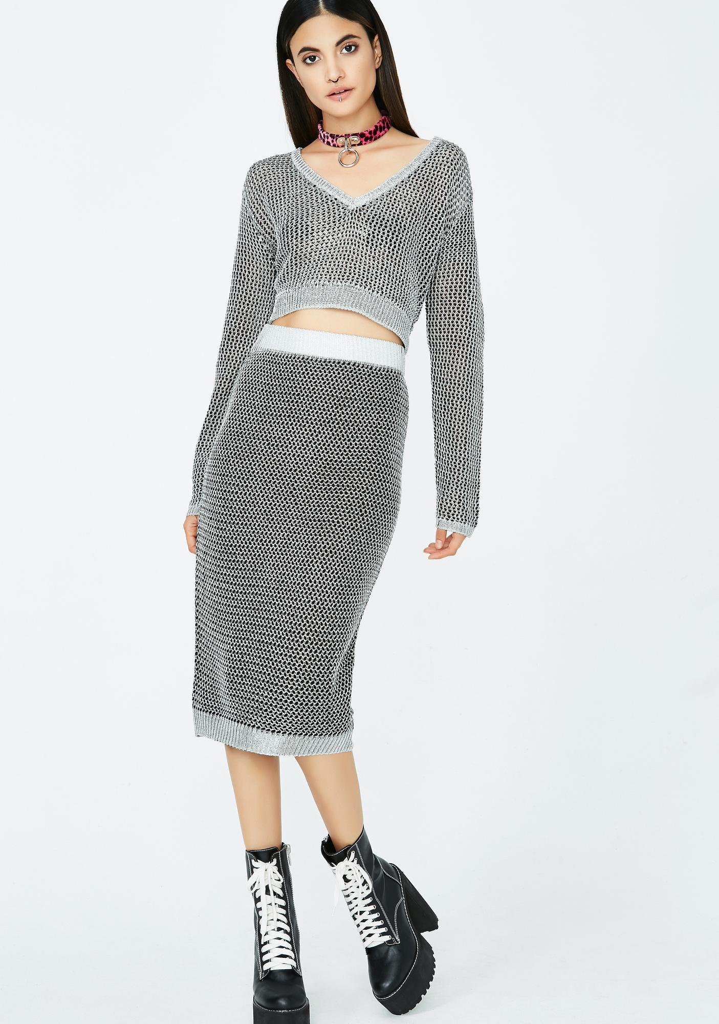 matching sweater set midi skirt dolls kill