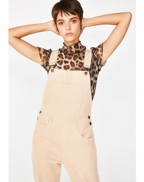Nelly Dungaree Cord Pebble
