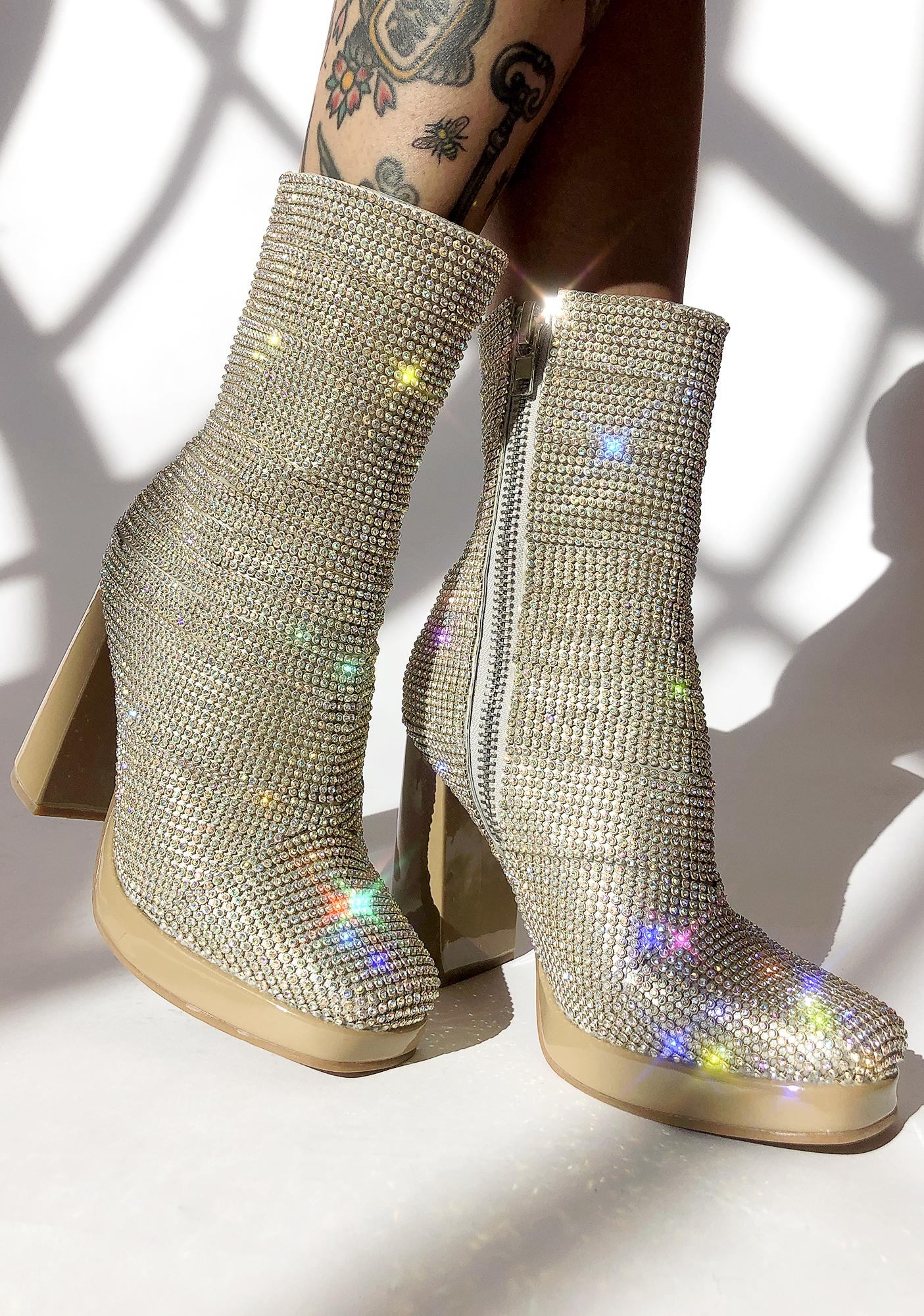 286101264f2 Poster Grl Park Ave Princess Crystal Booties