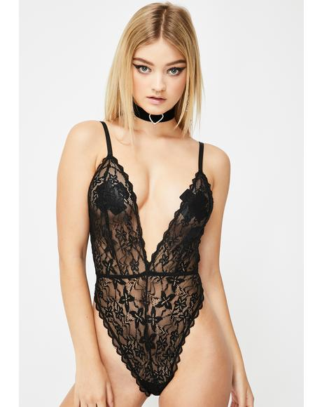 Noir Dressed To Undress Lace Bodysuit