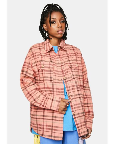 Peach Flannel Jacket