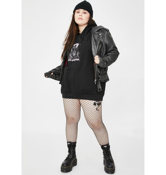 NEW GIRL ORDER Plus Diamante Kyoto Graphic Hoodie