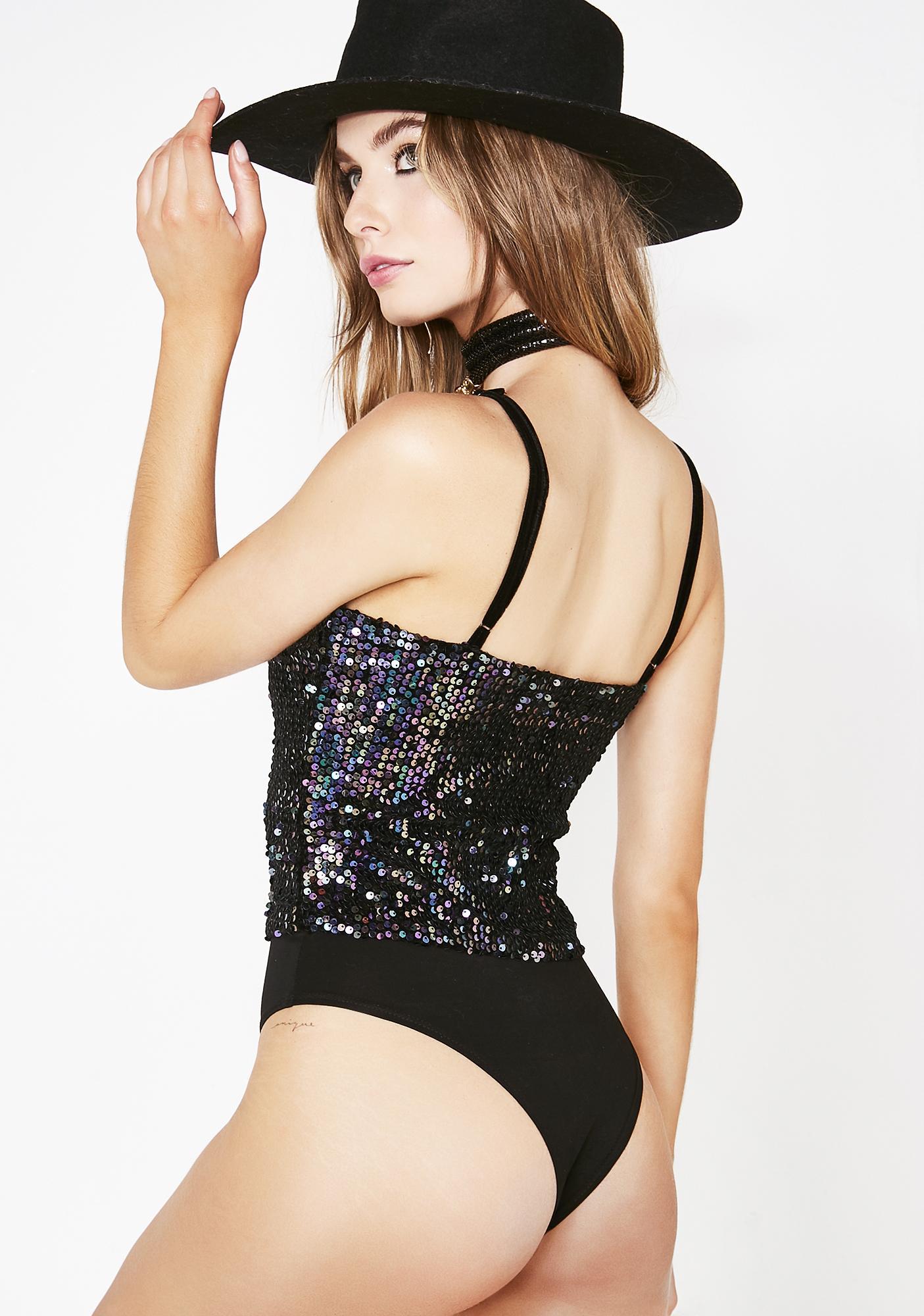 Boho Nights Sequin Bodysuit