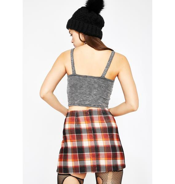 Don't Try Me Plaid Skirt