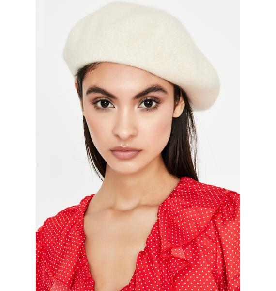 Frosted Romance Fantasy Wool Beret