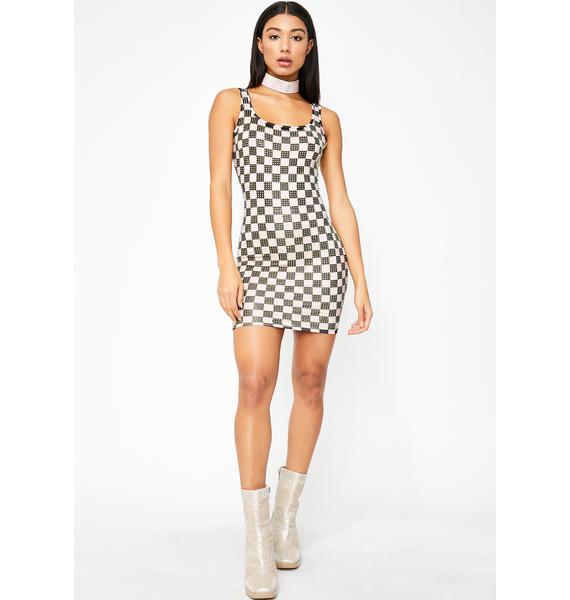 Rhinestone Reign Mini Dress