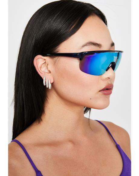 Cobalt Be Gone Shield Sunglasses