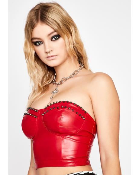 Log Off Studded Bustier