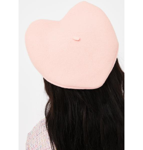 Sweet French Lessons Heart Shaped Beret