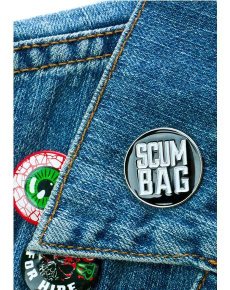 Scum Bag Enamel Pin