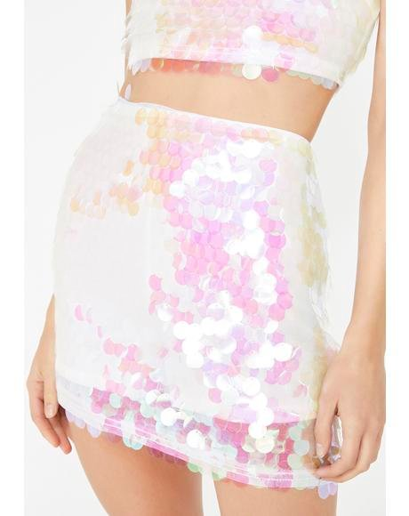 Pearlescent Pixie Sequin Skirt