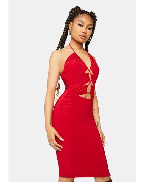 Ruby Take You Home Cutout Mini Dress