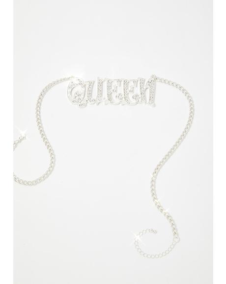 Bling Queen Rhinestone Necklace
