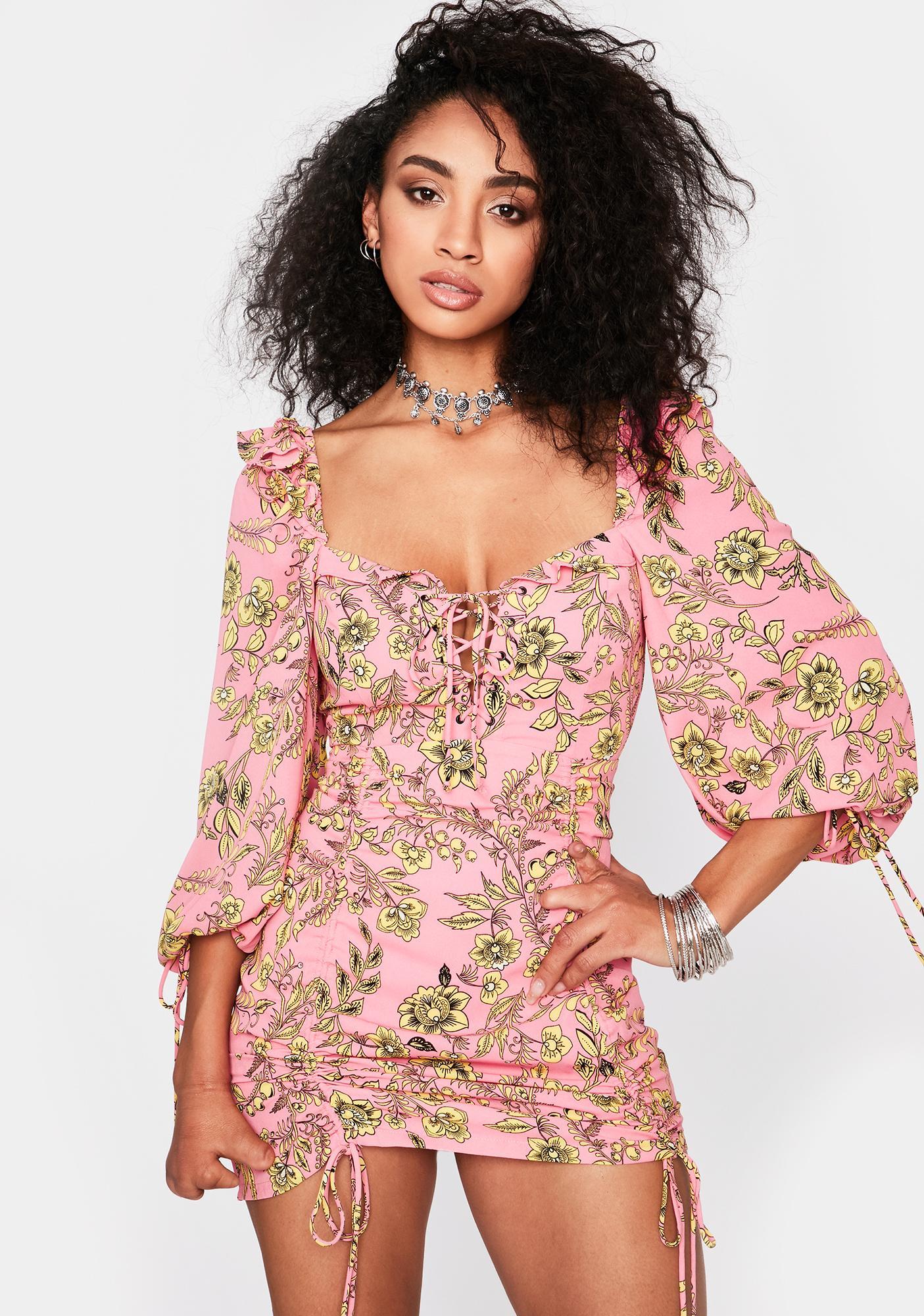 Keep It Goin' Ruched Mini Dress