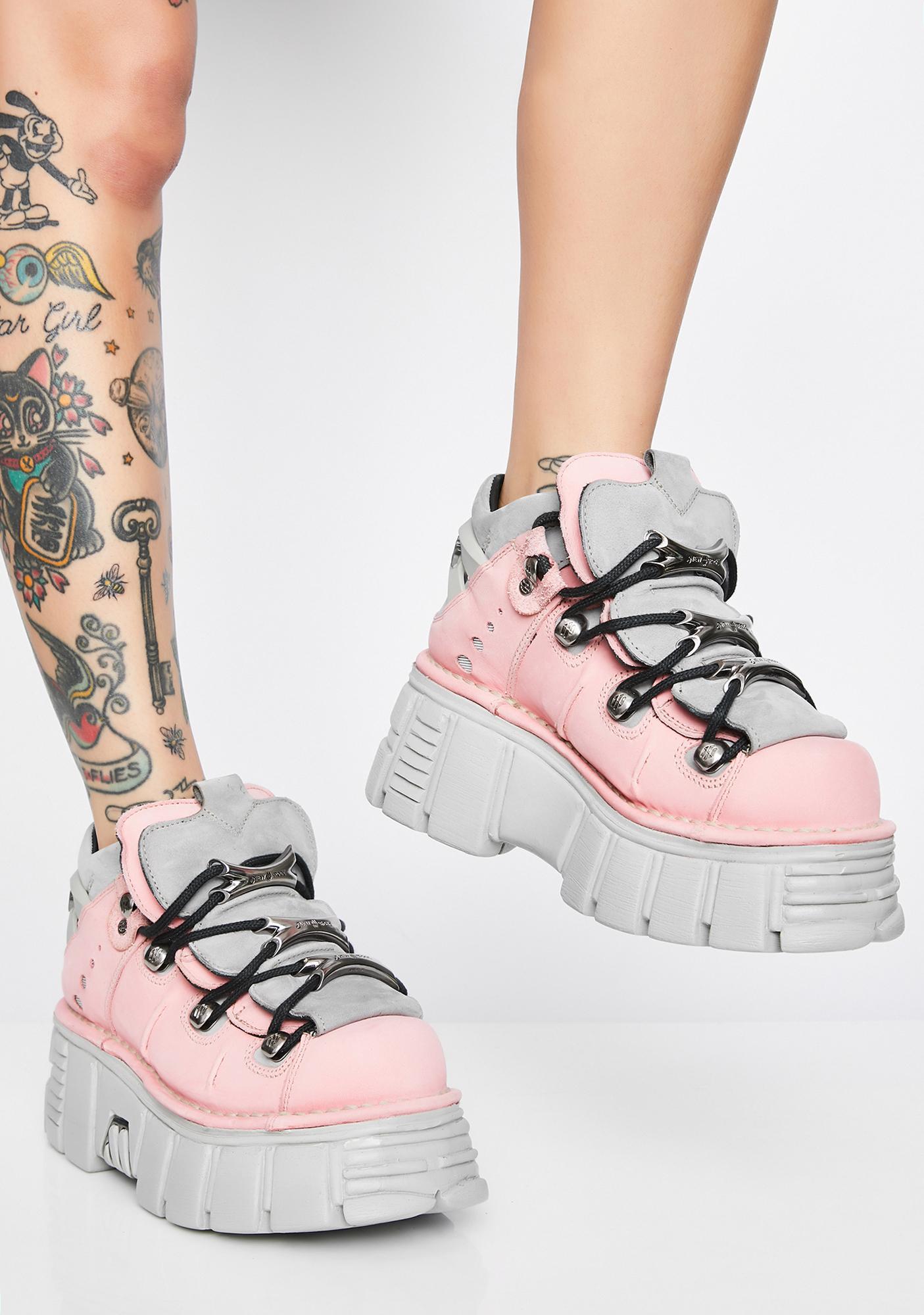 New Rock Nobukc Rosa Platform Sneakers