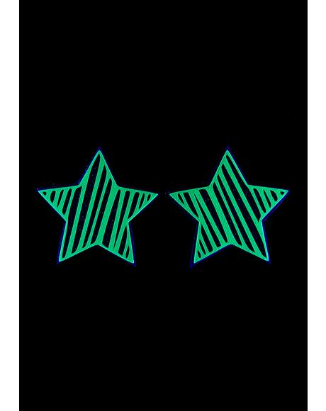 Reflective Star Slash Pasties