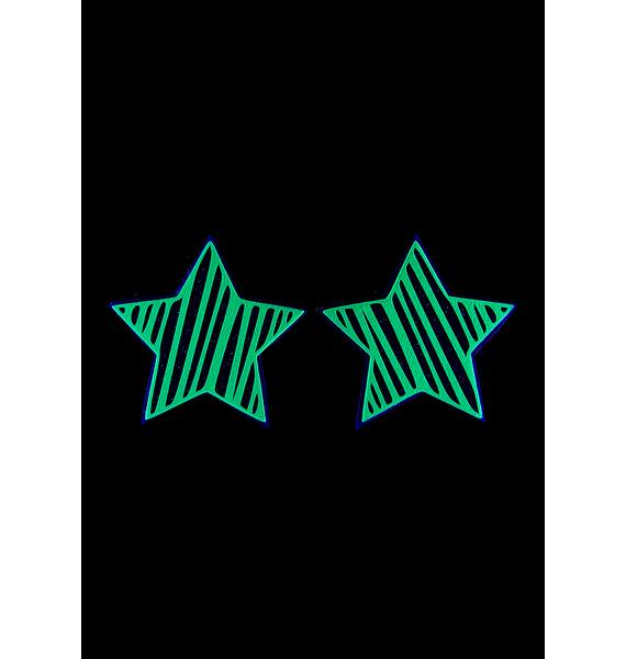 Sasswear Reflective Star Slash Pasties