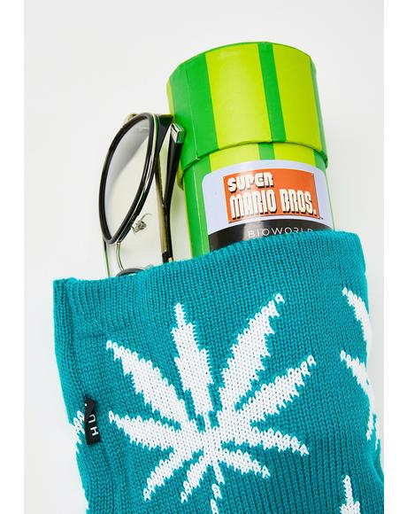 Teal Plantlife Stocking