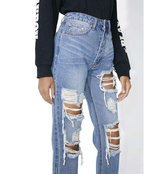 Isabelle Distressed High Waist Jeans