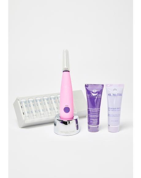 Pink Sonicsmooth Dermaplaning System