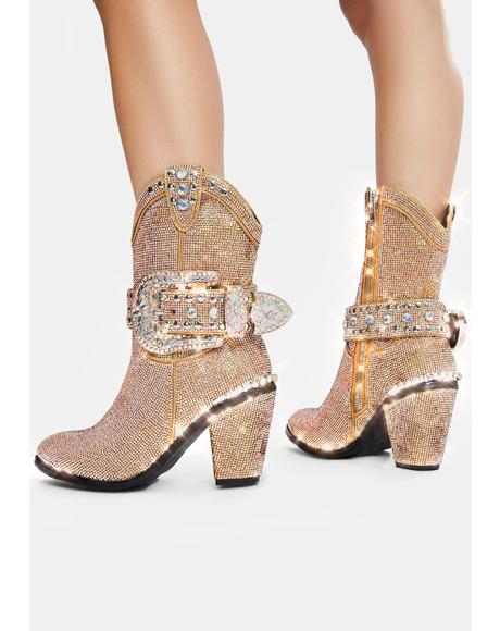 Golden Sheriff Shine Cowboy Boots