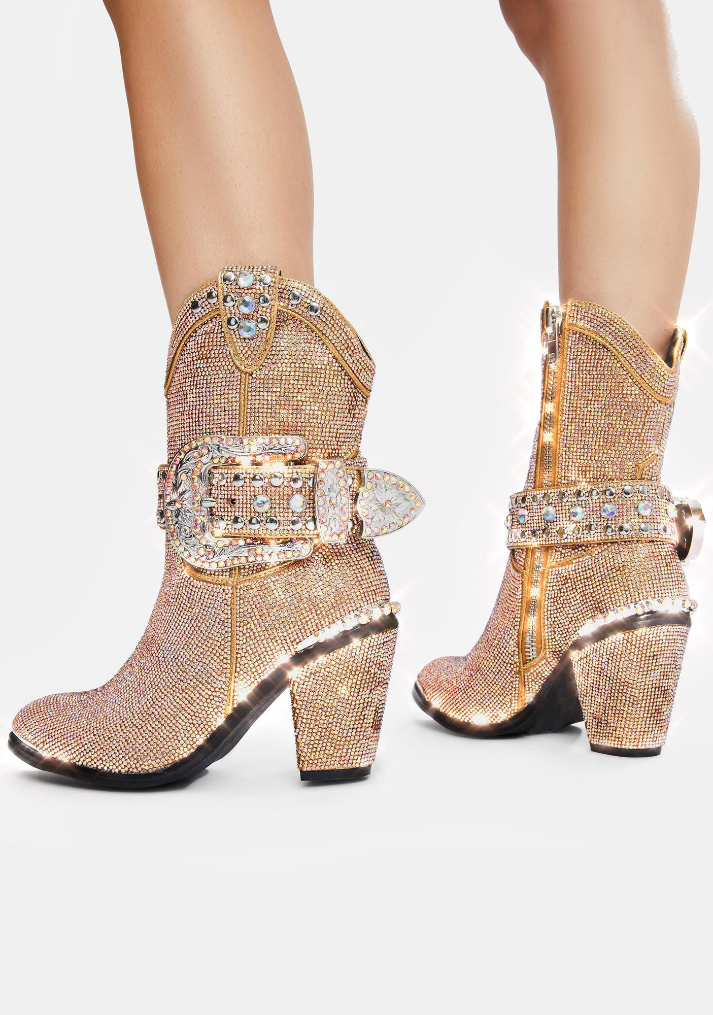 Club Exx Golden Sheriff Shine Cowboy Boots