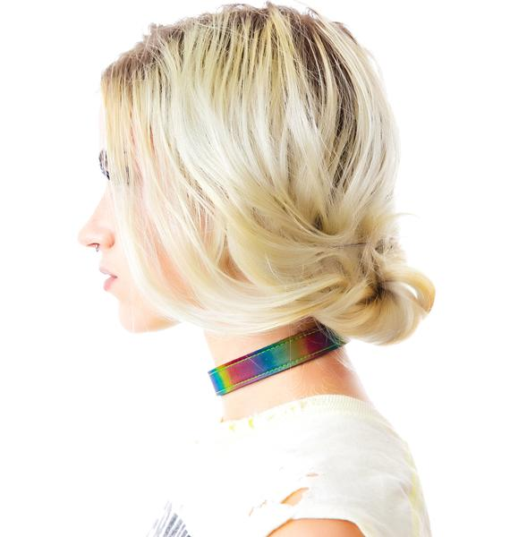 Rainbow Rave Choker