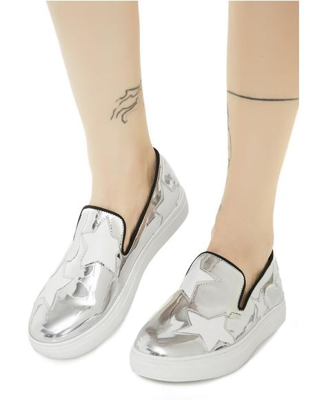 Silver Cala Star Slip-on Sneakers