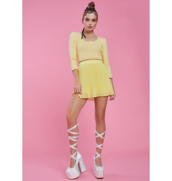 Sugar Thrillz Honeymoon Avenue Chiffon Skirt