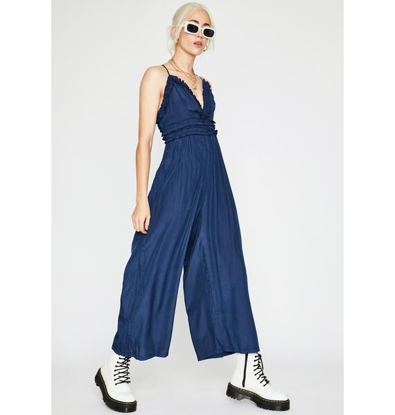 At The Gala Ruffled Jumpsuit
