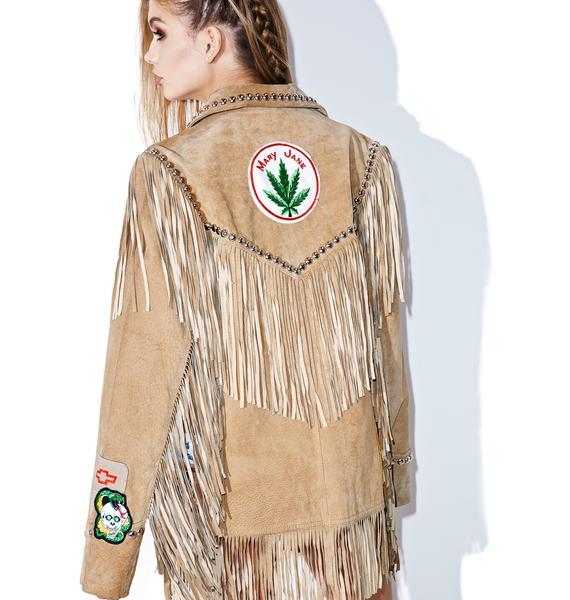 Hazmat Design Harvest Moon Fringe Jacket