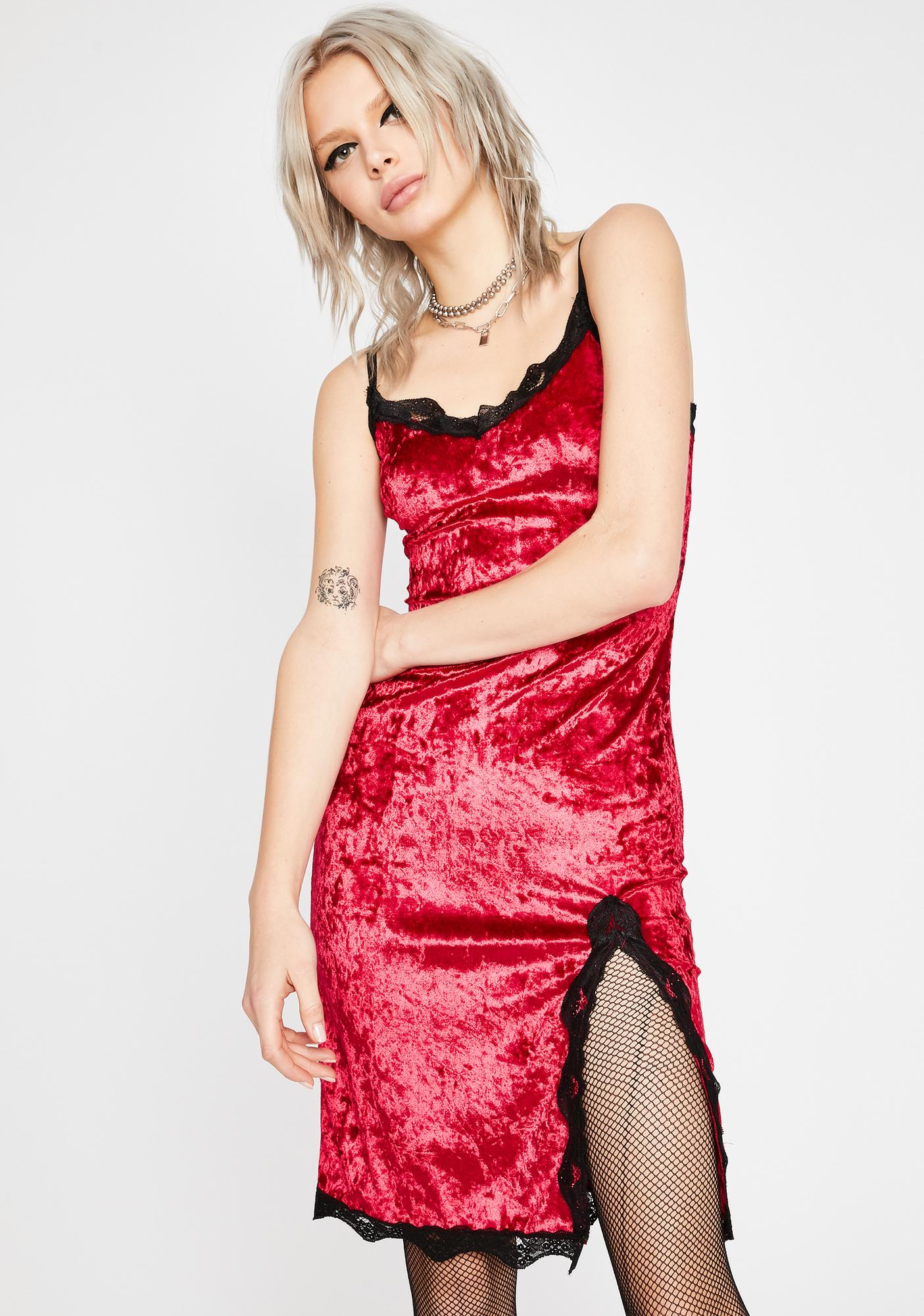 Read Into Me Velvet Dress