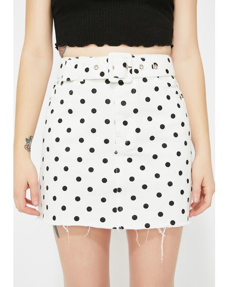 Sugar Town Polka Dot Skirt