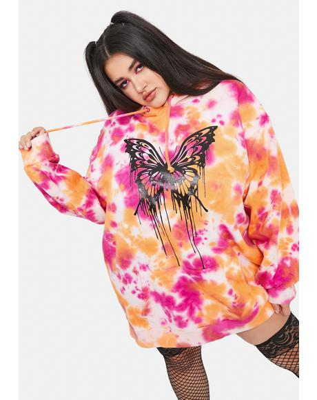 I'll Never Let Go Tie Dye Butterfly Hoodie
