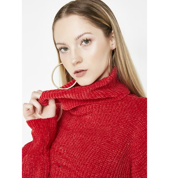 Lover Come N' Entertain Crop Sweater