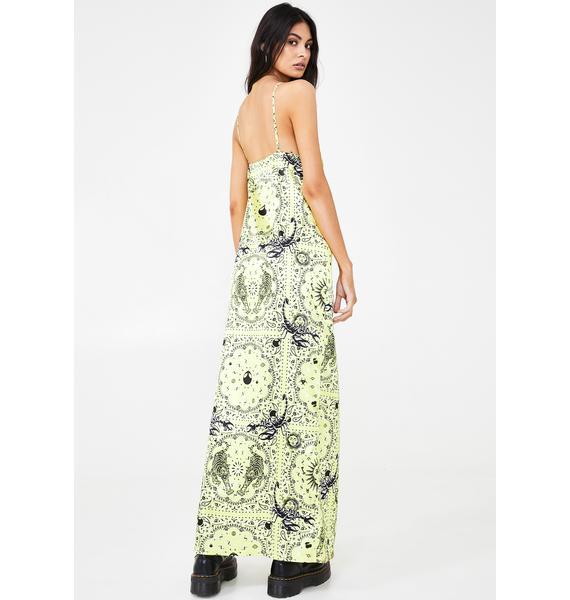 NEW GIRL ORDER Scorpio Scarf Maxi Dress