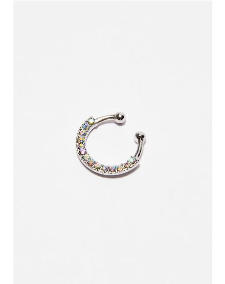 Iridescent Look This Way Septum Ring