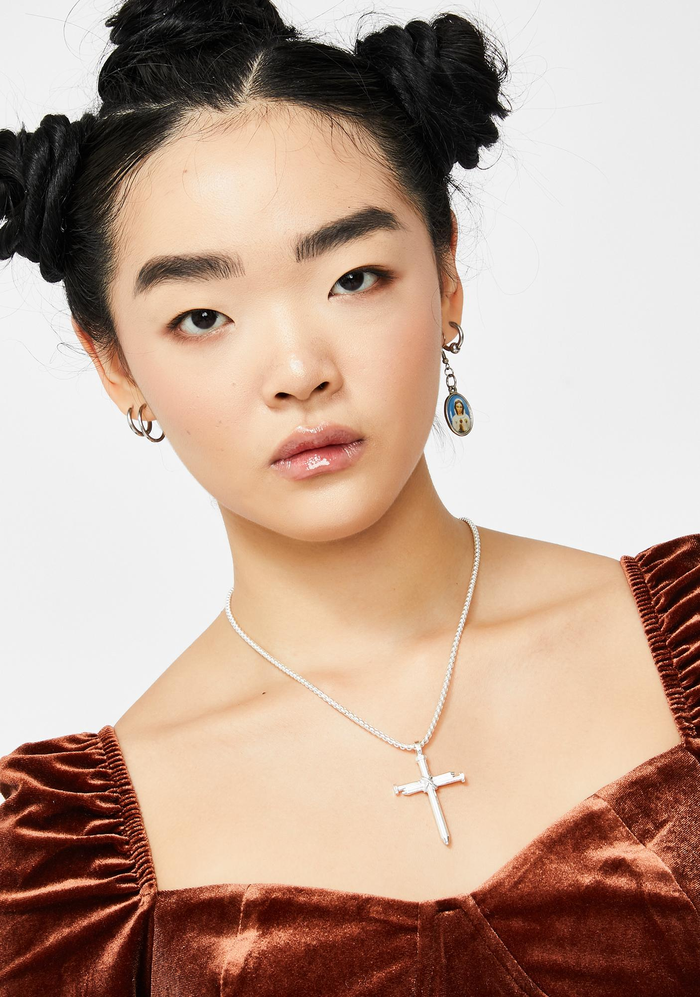 Crucified Crush Cross Necklace