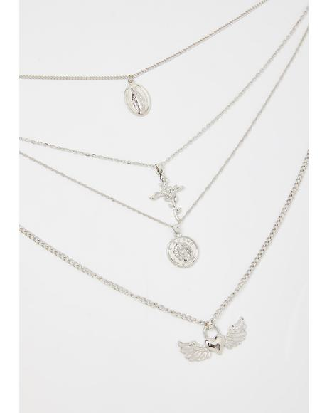 Purity Key Layered Necklace