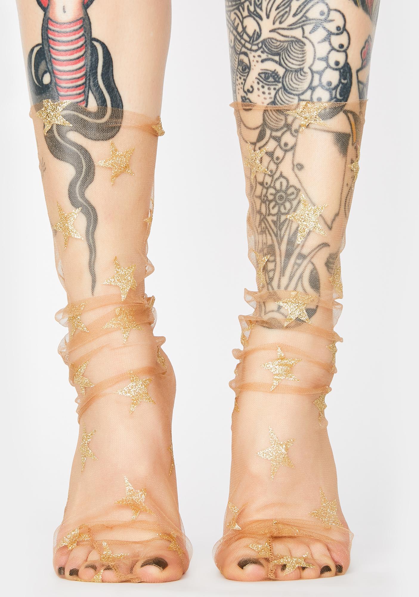 Brightest Star Tulle Socks