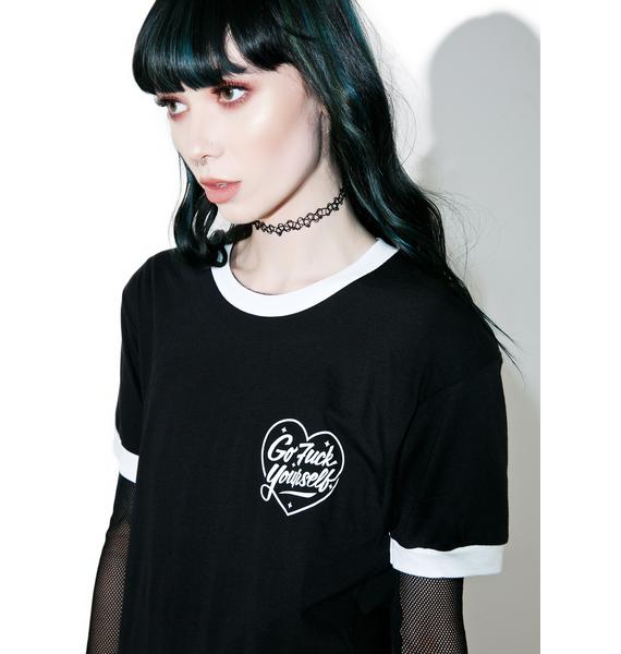Rebel8 Love Lost Ringer Tee