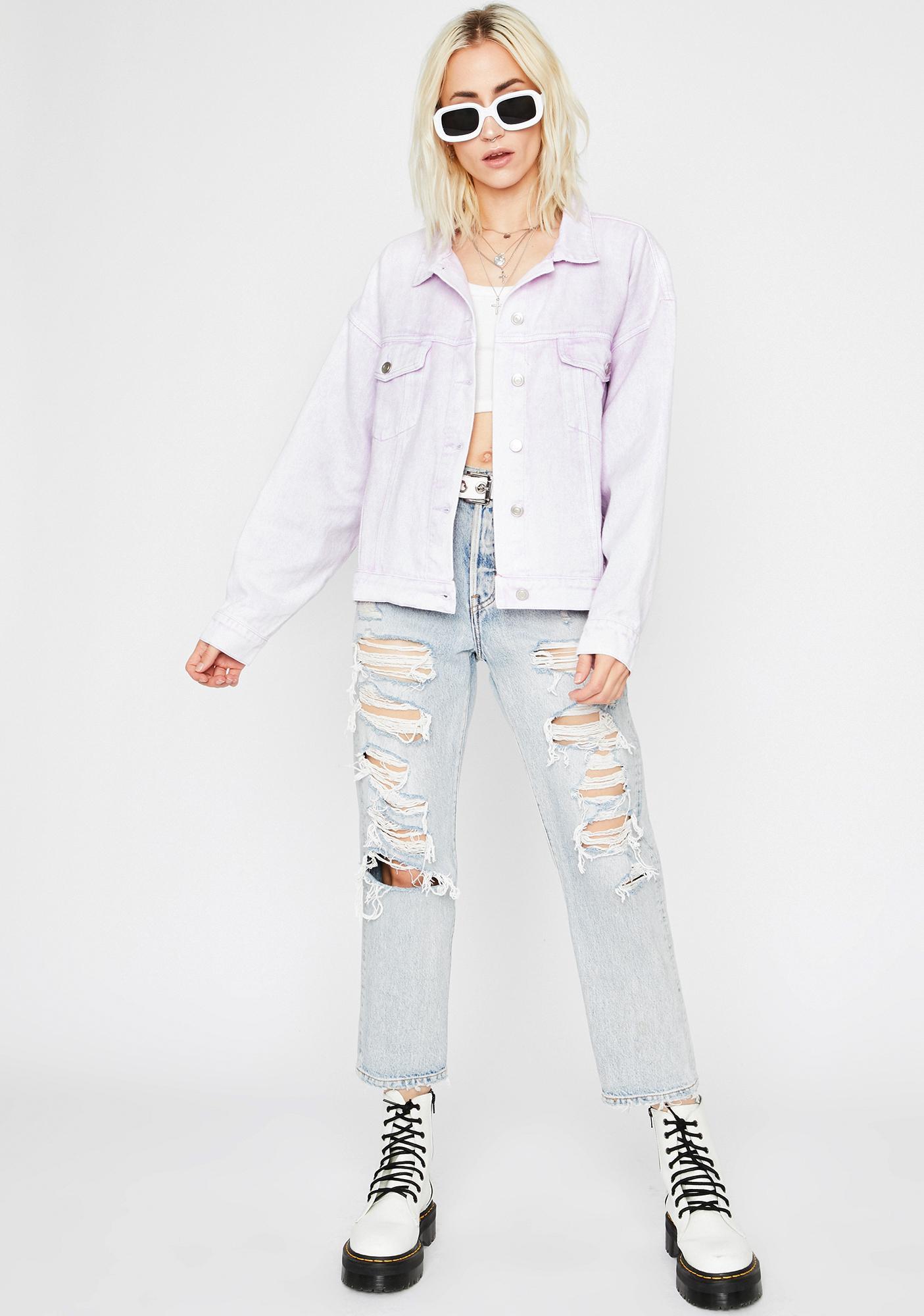 Lilac Show Off Oversized Jacket