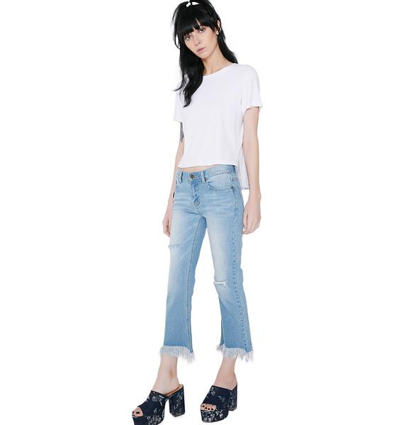 EVIDNT Distressed Bottom Jeans