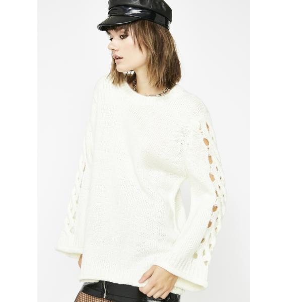 Twisted Dreams Oversize Sweater