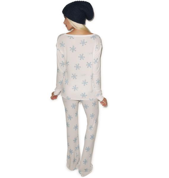 Wildfox Couture Snowflake Polar Pajama Set