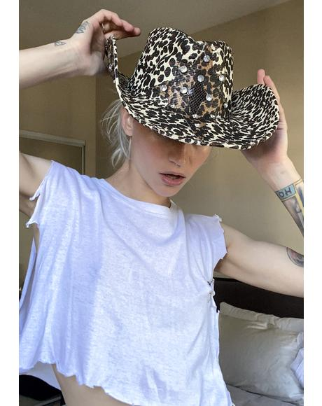 Diva Down Under Leopard Cowboy Hat