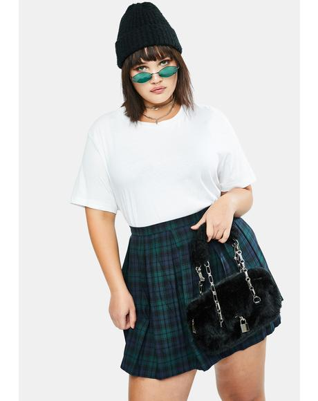 Her High School Hexes Plaid Pleated Skirt